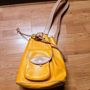 Dooney Bourke Leather Sling Bucket Bag